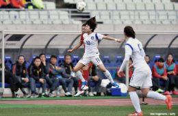 South Korea's Ji-So yun in action. (Koki Nagahama / Getty Images)