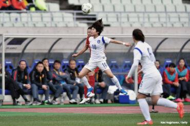 South Korea's Ji-So yun in action. (Koki Nagahama / Getty Images)
