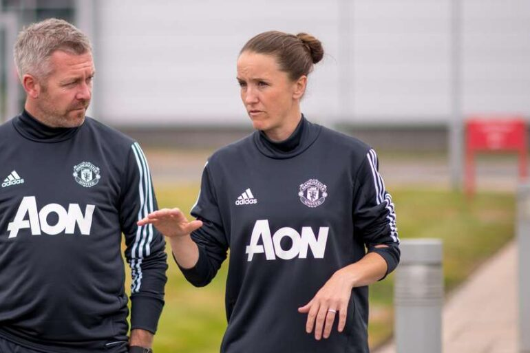 Manchester United head coach Casey Stoney. (Manchester United)