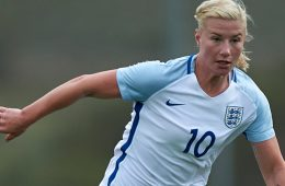 Beth England playing for the England U-23 team. (The FA)
