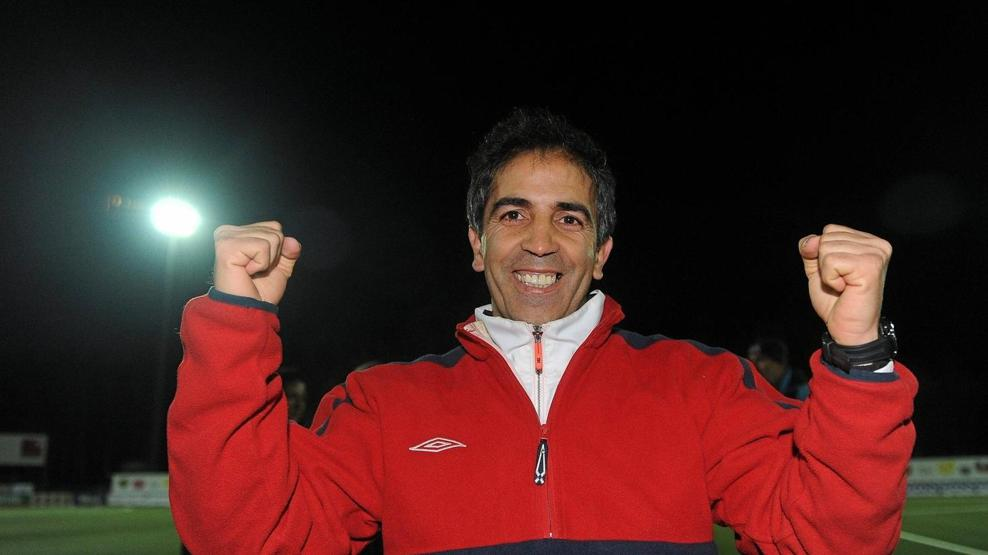 Farid Benstiti, head coach of Olympique Lyon in 2010. (UEFA / Sportsfile)