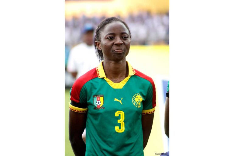 Ajara Nchout, forward for Cameroon. (Happiraphael / CC BY-SA (https://creativecommons.org/licenses/by-sa/4.0))