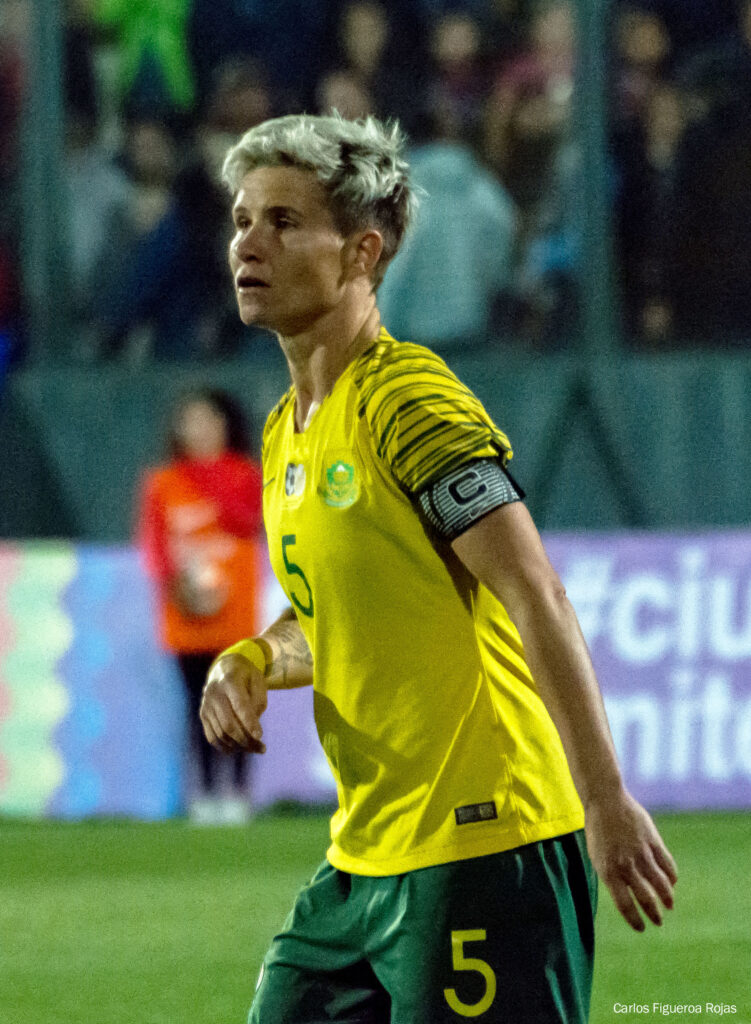 Janine van Wyk playing for South Africa. (Carlos Figueroa Rojas / CC BY-SA (https://creativecommons.org/licenses/by-sa/4.0)