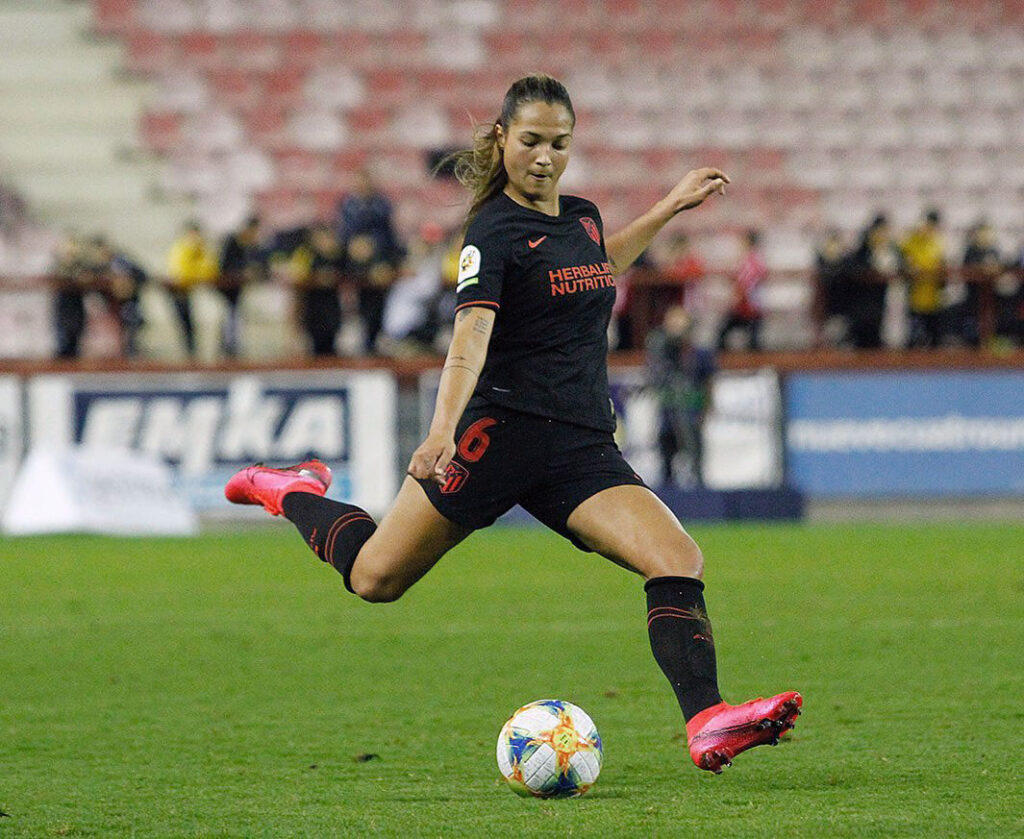 Deyna Castellanos playing for Atletico Madrid. (Atletico Madrid)