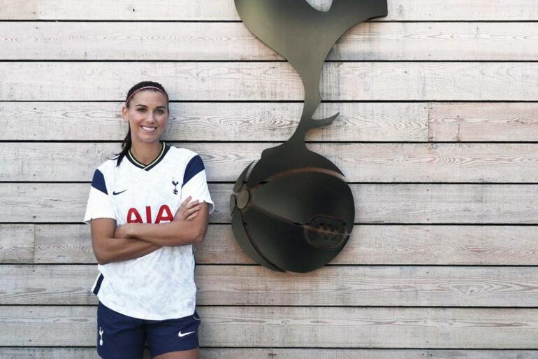 Alex Morgan wearing her Tottenham Hotspur kit. (Tottenham Hotspur)