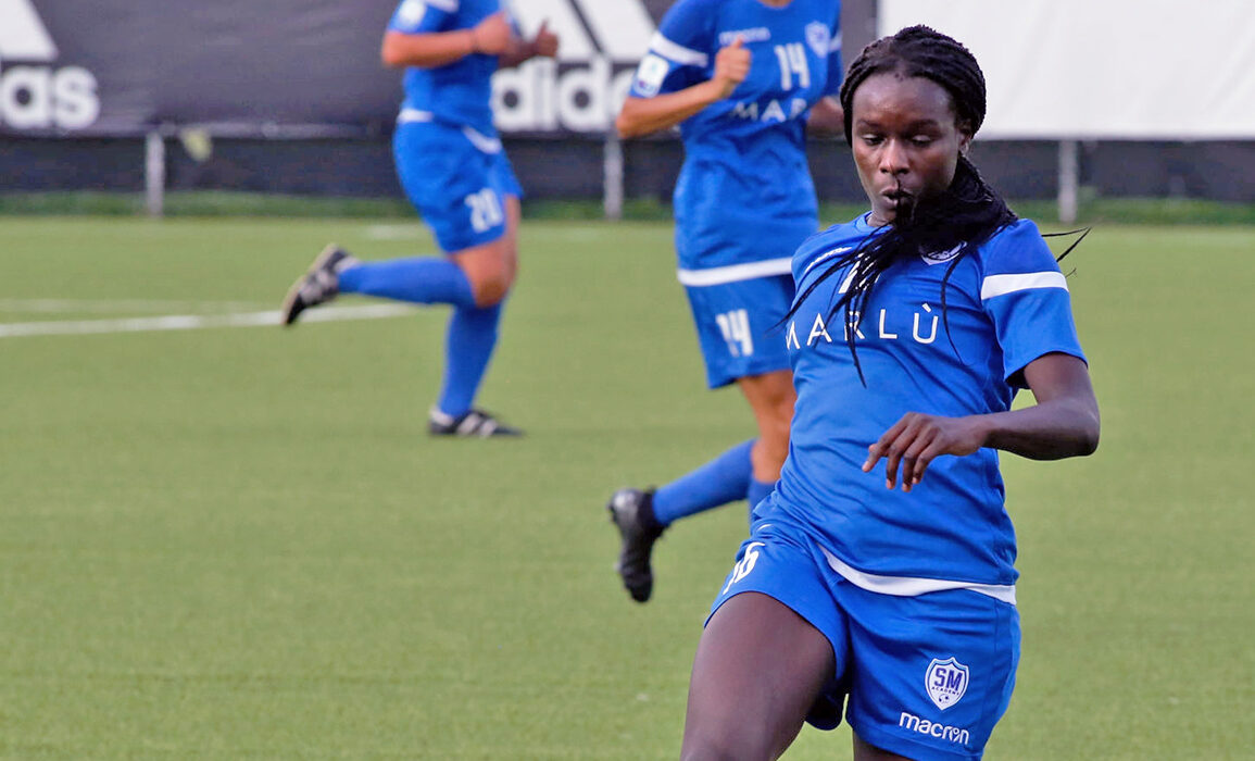 Karin Muya playing for San Marino Academy in Italy's Serie A. (Getty Images)