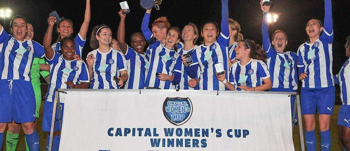 Actonians squad celebrating Capital Senior Cup win. (Actonians)