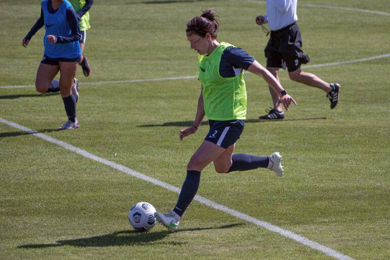 Rachel Corsie playing in a preseason match with Kansas City NWSL. (Kansas City NWSL)