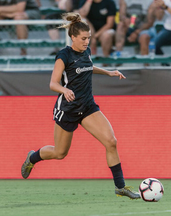 Defender Cari Roccaro playing for the North Carolina Courage. (North Carolina Courage)
