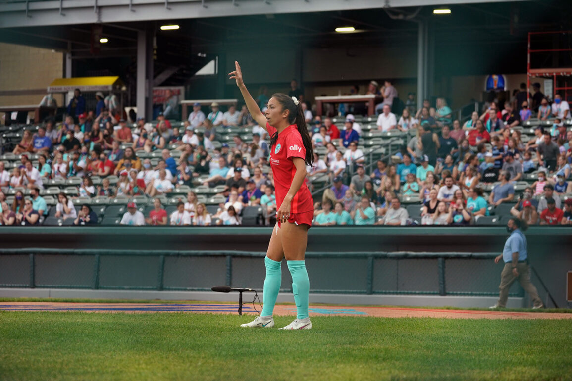 Victoria Pickett on the field for Kansas City. (Kansas City NWSL)