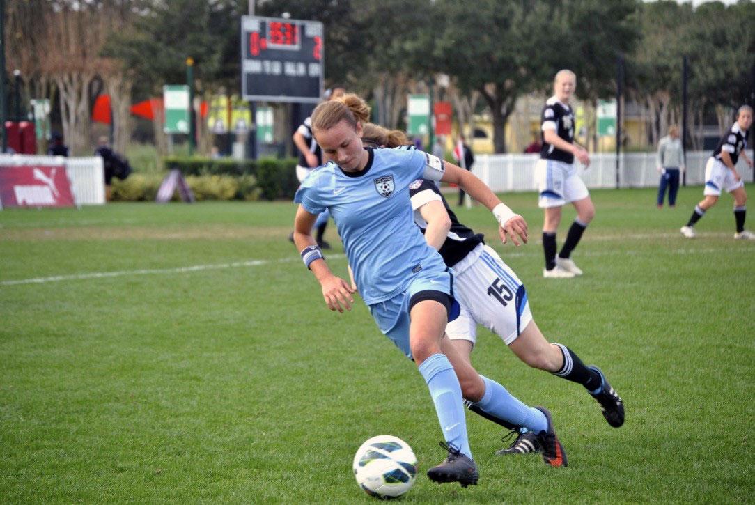 Martha Thomas playing for her youth club, Weston FC. (Thomas family)